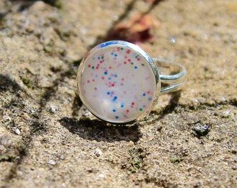 Rainbow Ring - Rainbow Jewellery - Rainbow Moonstone Ring - Statement Ring