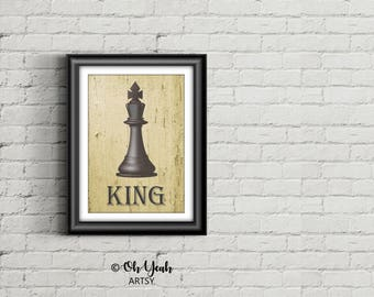King Chess Piece Art Print