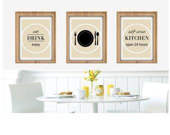 Happy Kitchen Art Print