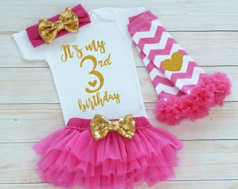 Third Birthday Outfit Girl, 3rd Birthday Shirt, 3rd Birthday Girl Outfit, Tutu Skirt, Birthday Gift, Third Birthday Girl Shirt, 3rd Birthday