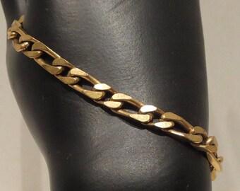 Men's 14K Gold Electroplated Chain Bracelet