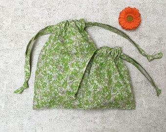 veil smallbags almost foliage - reusable cotton bag - printed smallbags to loose & travel storage - zero waste