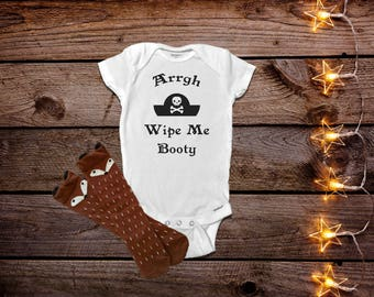Pirate Onesies®, Funny Baby Onesies®, Unique Baby Gift, Baby Boy Clothes
