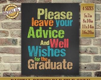 Graduation Gift - High School Graduate Sign - Instant Printable DIGITAL FILE JPG
