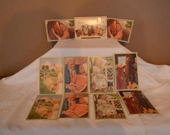 American Girl Felicity Vintage Postcards 1996