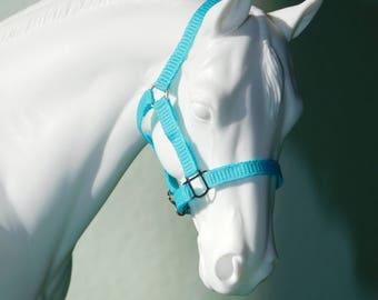 Cm Breyer/Model Horse Halter - Light Blue - Classic or Traditional