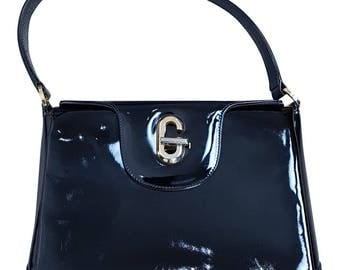 GUCCI Vintage Patent Leather Kelly Bag