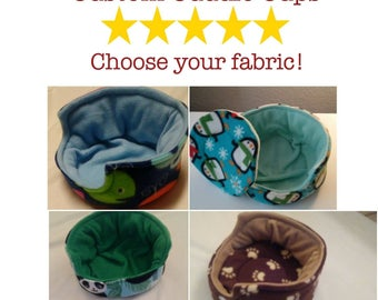 Custom Cuddle Cup for Guinea Pigs, Hedgehogs, Rabbits, and Other Small Pets, Guinea Pig Cuddle Cup, Hedgehog Cuddle Cup, Fleece Bedding