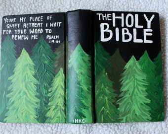 Thrifted Green Forest Bible