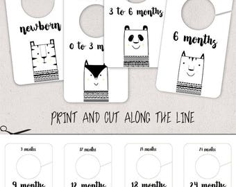 Animal Baby Closet Dividers, Clothing Size Dividers, Closet Rod Dividers,  Nursery Closet Organisation
