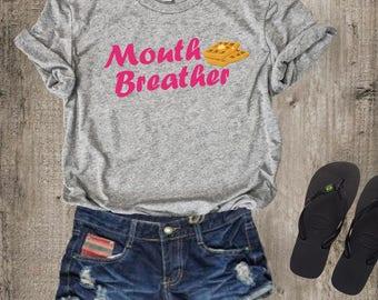Mouth Breather T Shirt Tee Top Crewneck, Stranger Things Shirt,  Eleven, steve harrington, 80s clothing, vintage shirt, retro shirt,