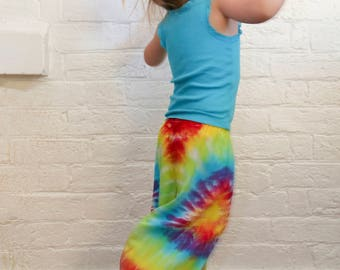 Kids Size 4 Harem Pants - Boho - Hippie - Gypsy - Pants - Ready To Ship - Unisex - Tie Dyed - 100% Rayon - FREE SHIPPING within AUS