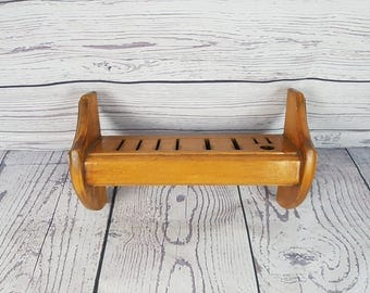 Vintage Wall Hanging Knife Holder Kitchen Storage Wood Hanger Wooden Farmhouse Decor Industrial