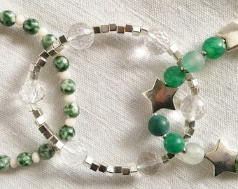3 green and silver color / free shiping