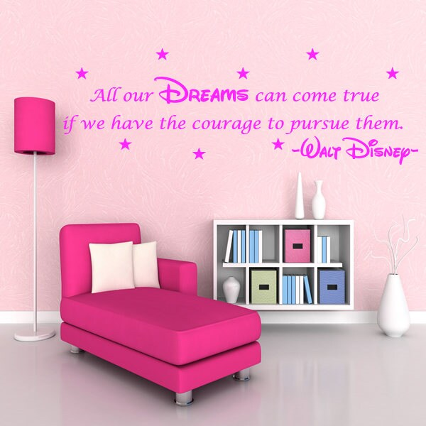 Walt Disney Wall Sticker Quote   Kids Nursery Wall Art Decal X58 Part 55