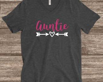 Auntie Shirt - Cute Auntie Shirt - Auntie Gifts - Customized Auntie Shirts - Aunt Shirts - Aunt Gifts