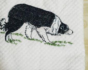 Embroidered Herding Border Collie