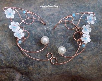 Elven Ear Cuffs - Copper Elven Ear Cuffs - Fairy Ear Cuffs - Elf Ear Cuffs - Elven Ear Wraps - Ear Cuffs - Fairy Ear Wraps - Halloween