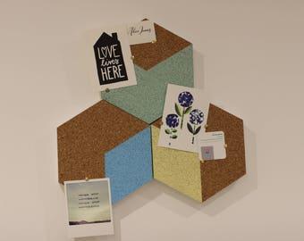 Pastel Hexagon pinboard