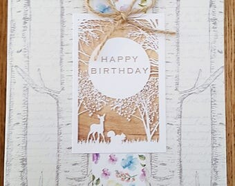 Happy Birthday Card (Enchanted Woodland Style)