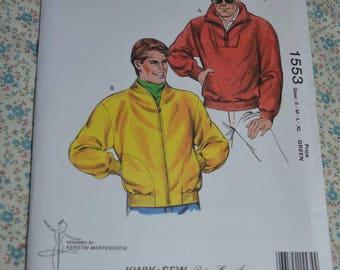 Kwik Sew 1553 Mens Jacket Sewing Pattern - UNCUT - Size S M L XL