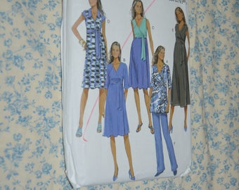Butterick 5860 Misses Maternity Top Dress and Pants Sewing Pattern UNCUT Size 8  -  14 or Size 16 - 24 Wrap Top or Dress,  Boot Leg Pants