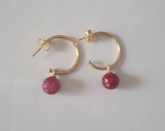 Ruby root earrings