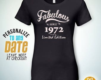 Fabulous since 1972, 46th birthday gifts for Women, 46th birthday gift, 46th birthday tshirt, gift for 46th Birthday,