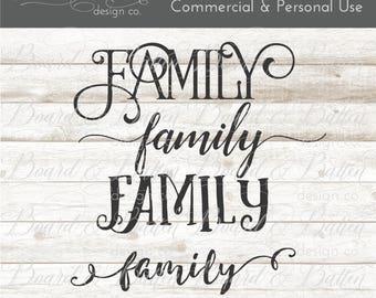 Family Svg File Bundle - Silhouette Cut File - Svg Clipart - Vinyl Cut File - Cricut Svg - Family Cut File - Svg Download - Digital Svg File