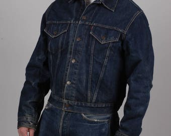 True vintage Levi's big E 559 XX 1960s trucker jacket,