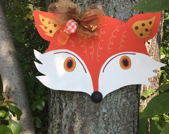 Fox Door Hanger, Fall Door Hanger,