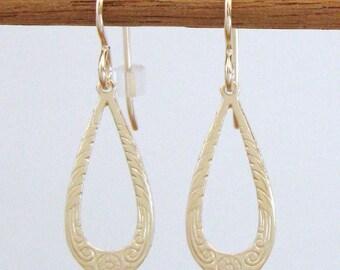 Gold-Filled Open Teardrop Earrings