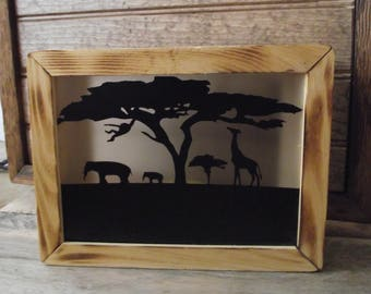 Battery Operated Rustic Safari Night Light