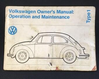 1974 Volkswagen Owner's Manual