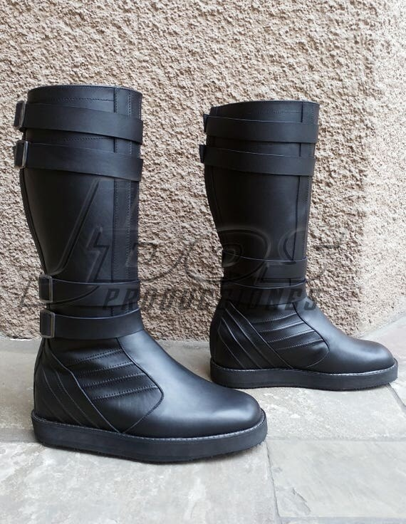 wars kylo ren style leather boots jedi sith prop
