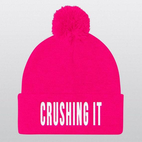 CRUSHING IT | 10 Colors | Pom Pom Beanie Hat