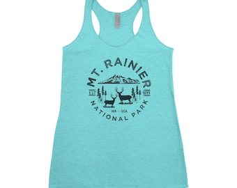 Mount Rainier National Park Adventure Next Level Ladies Tri-Blend Tank