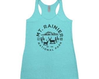 Mount Rainier National Park Adventure Next Level Ladies Tri-Blend Tank