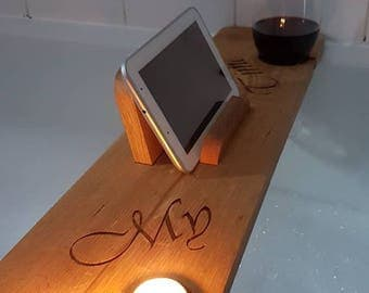 Solid Oak Bath Board/Caddy