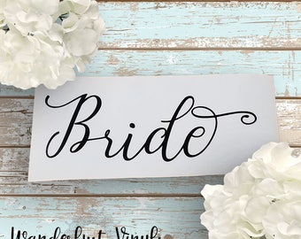 Bride Decal  |  Bride Sticker | Wedding Decal |  Bridal Party Decal  |  Wedding Sticker  |  Wedding Party Gifts