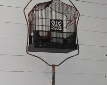 Vintage Arched Crown Bird Cage, Bird House, Wire Birdcage, Wedding Birdcage