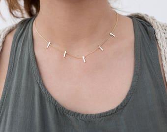 Bar necklace, necklace bars, necklace sticks, choker rods, choker sticks, silver necklaces, modern necklaces, boho jewelry