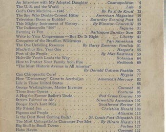 The Reader's Digest June 1946 Good Reading A Satisfying Comrade Contents on Cover