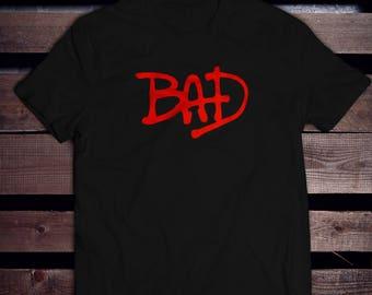 Michael jackson shirt, t-shirt bad, moonwalker, king of pop, apparel 100% cotton, gift idea, love for music