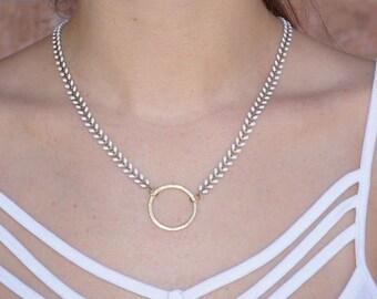 Spencer // Hoop Necklace