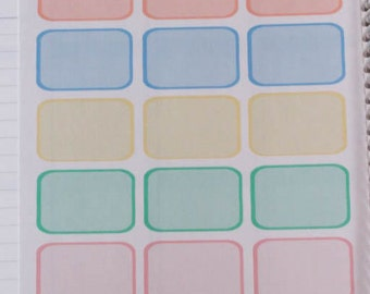 Pastel Half Boxes (18 Stickers)