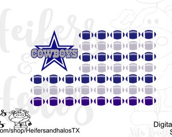 Dallas Cowboys flag - cut file- svg, pdf, png, eps, dxf, studio3, great for any Cowboy's fan!