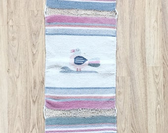 Vintage Southwestern Woven Wall Tapestry / Navajo Runner / Indian Woven Table Runner / Pastel Decor