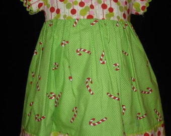 LIME GREEN/RED Holiday dress
