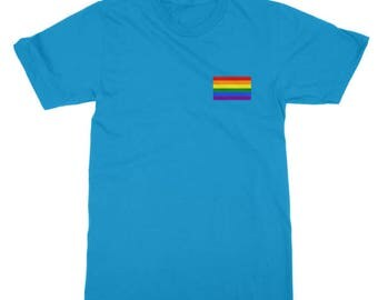 Gay Pride Flag Pocket T-Shirt